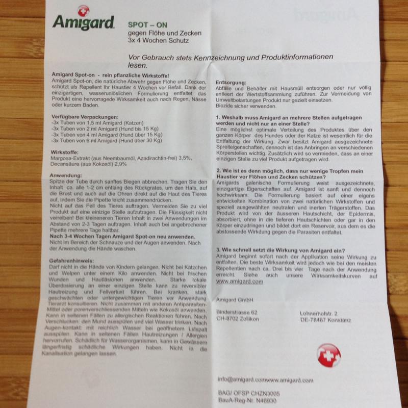 Amigard Spot on für Hunde über 30 kg