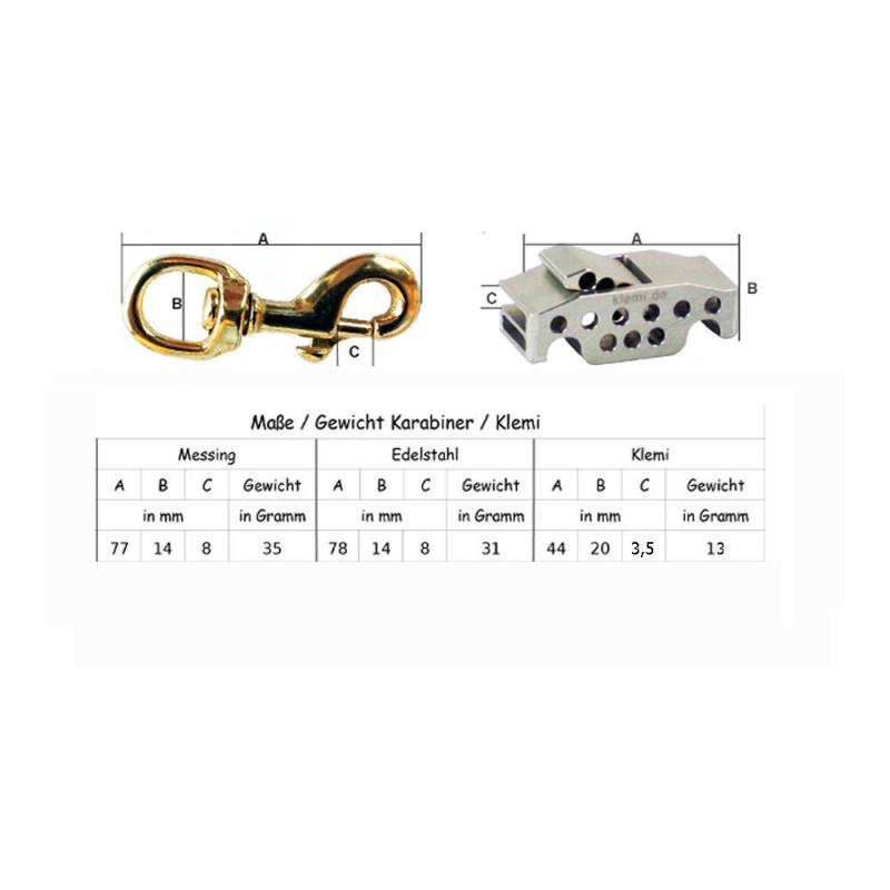 Biothane® Hundeleinen 13 mm bis 3 Meter